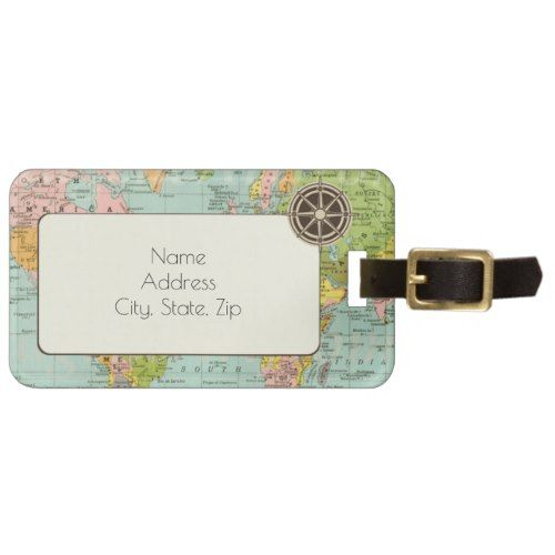 Multicolor world map luggage card bag tag gumiabroncs Gallery