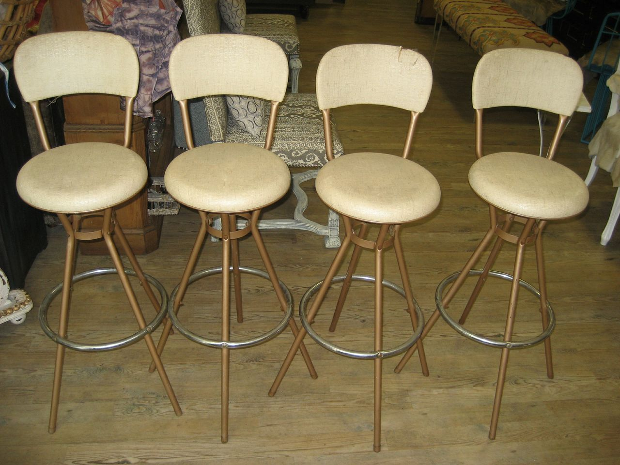 Drehsessel Vintage Vintage Swivel Bar Stools Barhocker Metal Bar Stools
