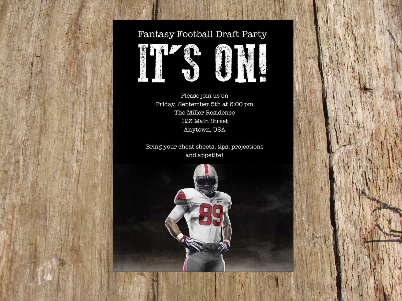 Football Party Fantasy Football Draft Day Kick Off Party
