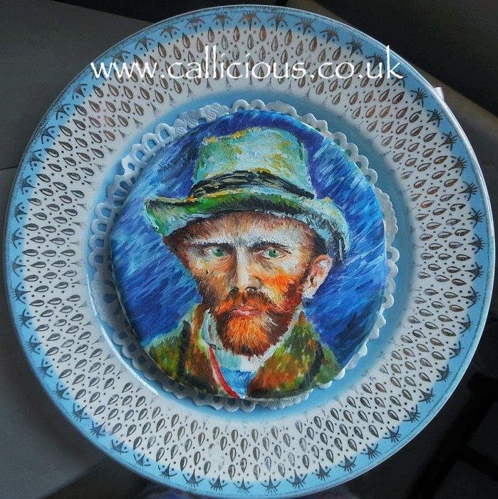 Van Gogh on a biscuit/cookie - by Callicious Cakes @ CakesDecor.com - cake decorating website