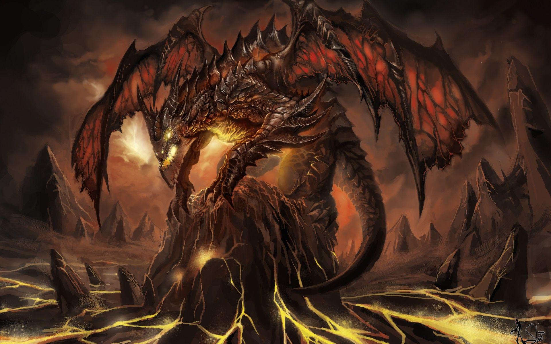 Demon Dragon Wide Desktop Background Wallpapers Hd Free 577149 Fire Dragon Fantasy Dragon Dragon Pictures