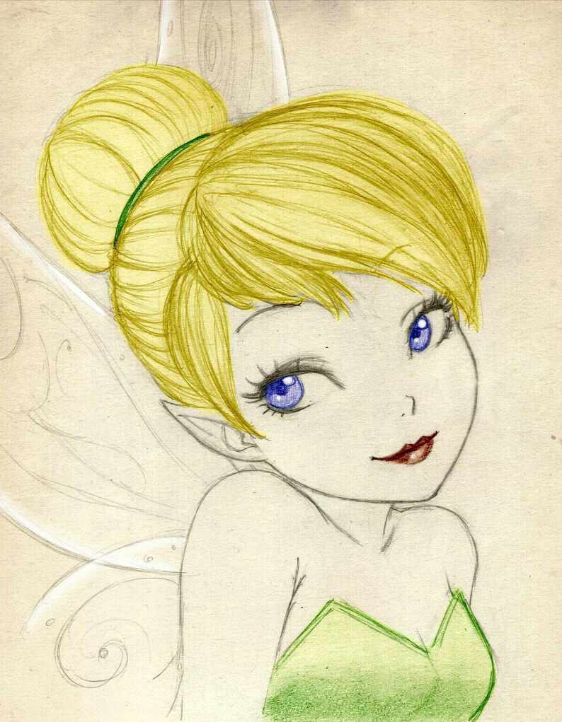 Tinkerbell Disney Drawings Disney Art