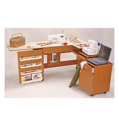 Betty Deluxe Dual Sewing Center, Oak
