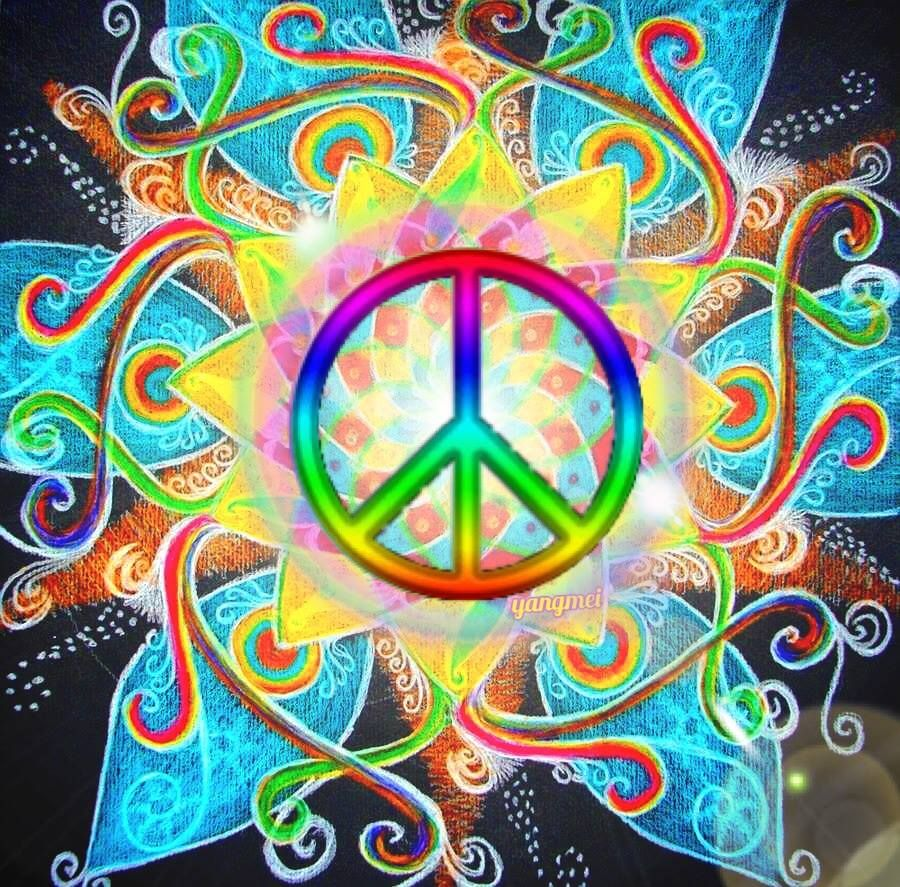 american hippie psychedelic art peace sign �� art