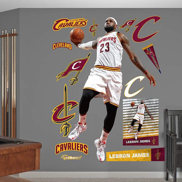 LeBron James   Slam Dunk Fathead Wall Decal