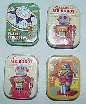 JAPANESE IMPORTED ROBOT BOX TINS BY MASUDAYA