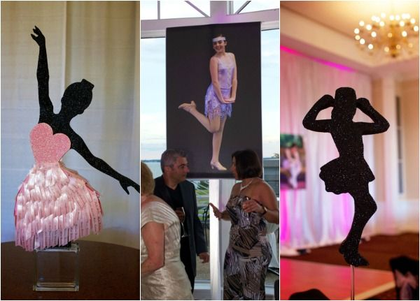Ballet & Dance Theme Bat Mitzvah Centerpieces & Decorations