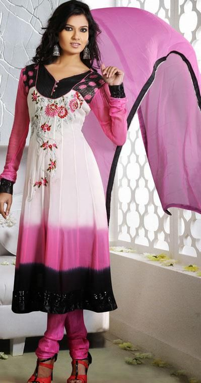 Salwar kameez, Anarkali and Pink on Pinterest