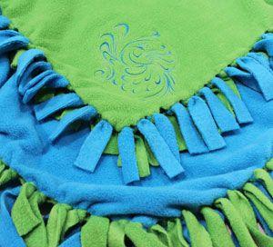 Fleece Blanket - A no-sew project (unless you want to add an ... : tied fleece quilt - Adamdwight.com