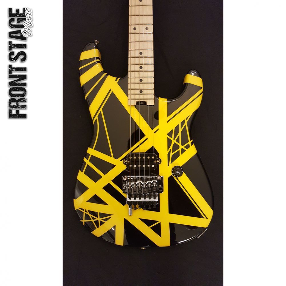 New Evh Black And Yellow Striped Electric Guitar Authorized Dealer Free Shipping Yellow Stripes Black N Yellow Yellow