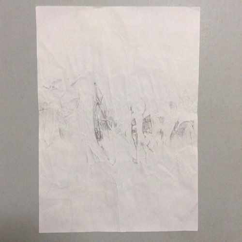 #WORK 003 SEP, 2015 297x210mm #pencil on #paper [tag] #abstract #drawing #beauty #simple #blank #space #void #indication #trace #deficiency #shading #foggy #shabby #vintage #patina #aged #crease #minimal #blur #snow #fade #oxidation #stain #zen #余白 #濃淡 #禅