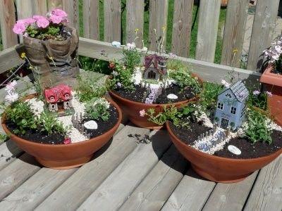 Mini casitas con jard n casas y fachadas en miniatura for Jardines japoneses en miniatura