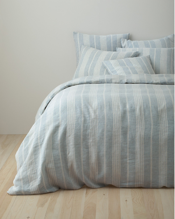 Stripe Relaxed Linen Cases Beautiful Duvets Comforter Cover Bed