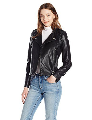 b0996f7ec54 A X Armani Exchange Women s Eco-Leather Moto Jacket, Black, Small ...