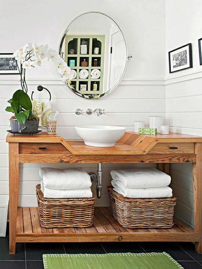Badezimmermöbel holz rattan  Rattan und Holz im Badezimmer | Badestube | Pinterest | Rattan ...