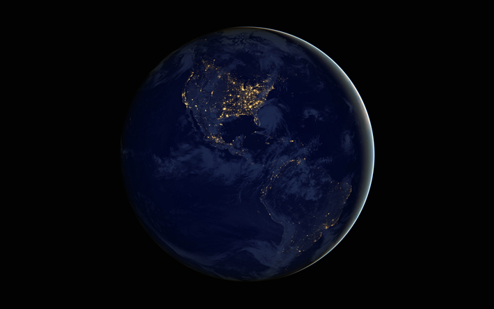 Download wallpapers Earth, NASA, North America, South