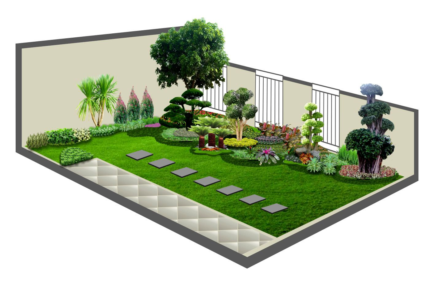 600+ Contoh Desain Taman Halaman Depan Rumah HD