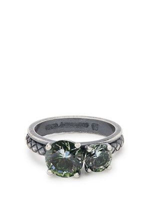 Cubic zirconia sterling silver ring Bottega Veneta I0LlYpeo