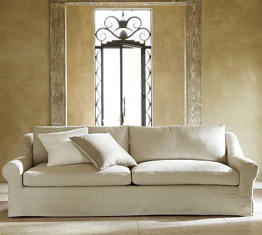 Windsor Slipcovered Grand Sofa Potterybarn 105 W X 43 D X 36 H