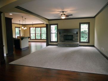 Craftsman Home Interior Design Concept craftsman home interiors. open floor plan, selective carpeting