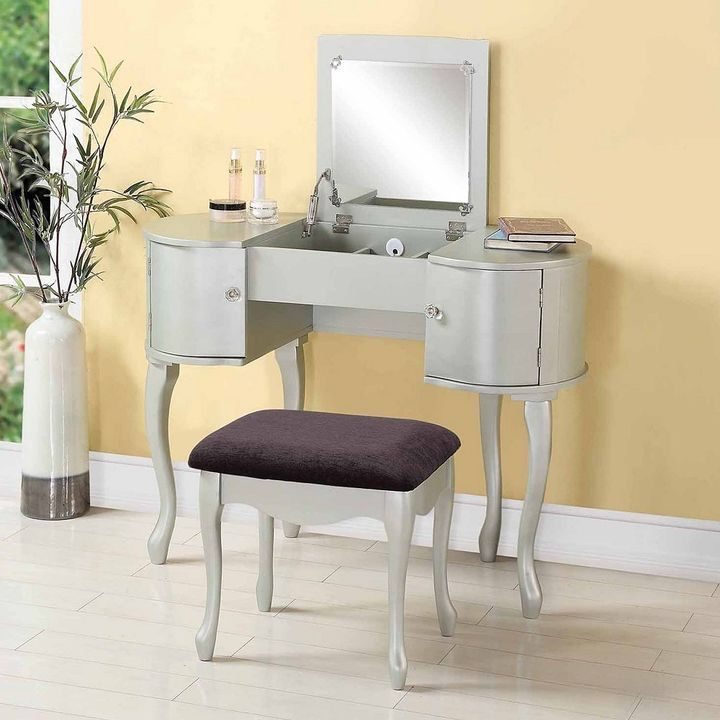 Linon Paloma 2-pc Vanity and Bench Set Bedroom decor Pinterest