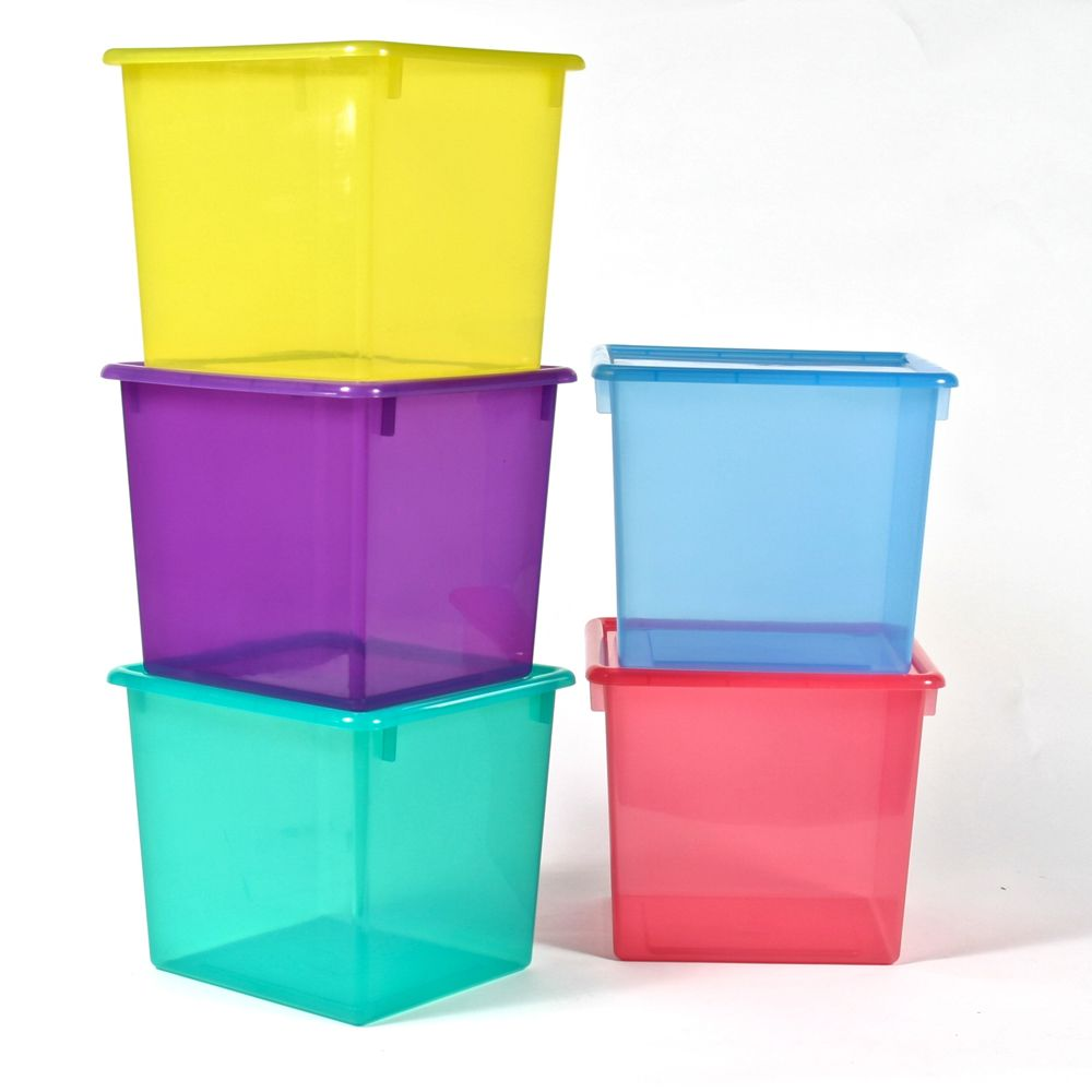 Large Colored Plastic Storage Containers Organize Com 12 99 Clear Colors Cube Storage Bins Plastic Container Storage Storage Bins