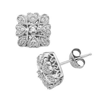 Simply Vera Sterling Silver 1 4 Ct T W Diamond Stud Earrings Kohls