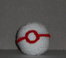 Handmade hackesac based off the Premium Ball item from the Pokemon game series.