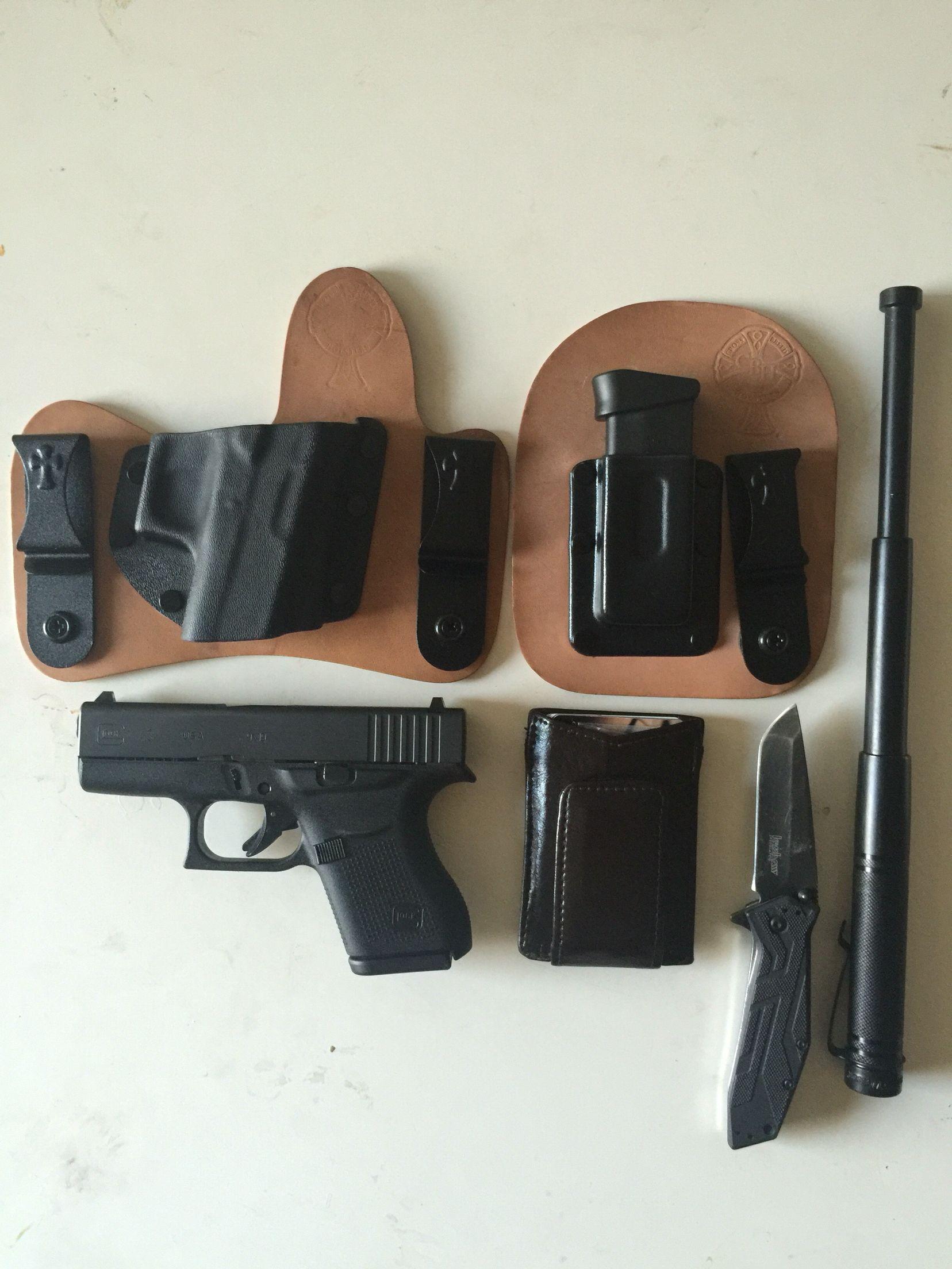 My EDC setup  Glock 43 with a Crossbreed mini tuck