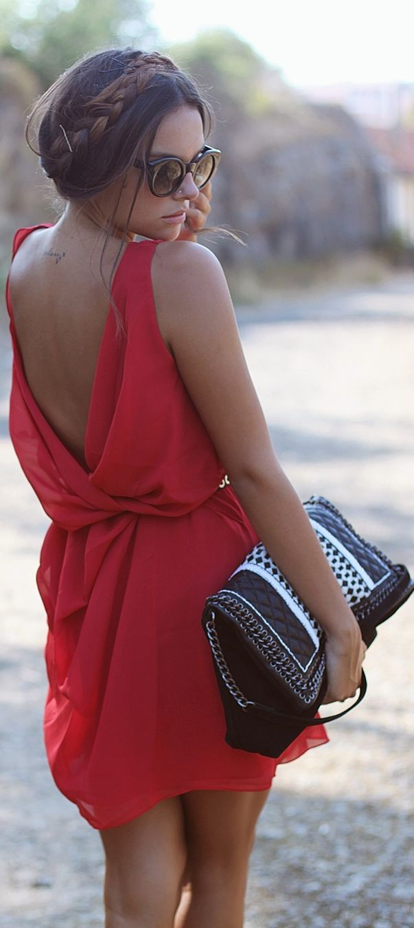 red dress for valentines day <3 (Best Wedding and Engagement Rings at www.brilliance.com)