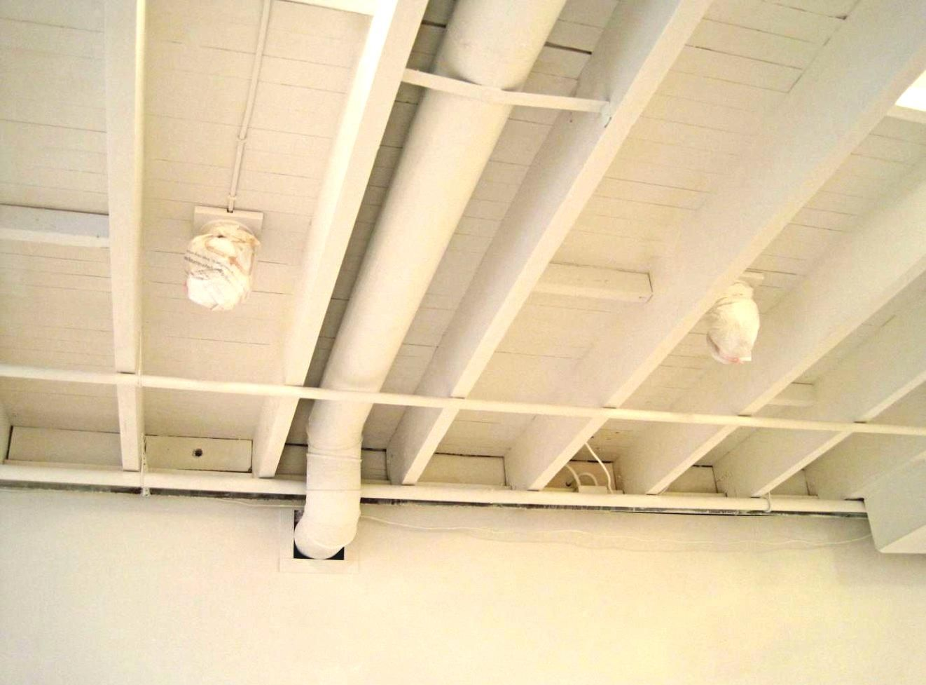 unfinished basement ceiling. Decoration-painted-white-color-unfinished-basement-wood-ceiling. Unfinished Basement Ceiling B