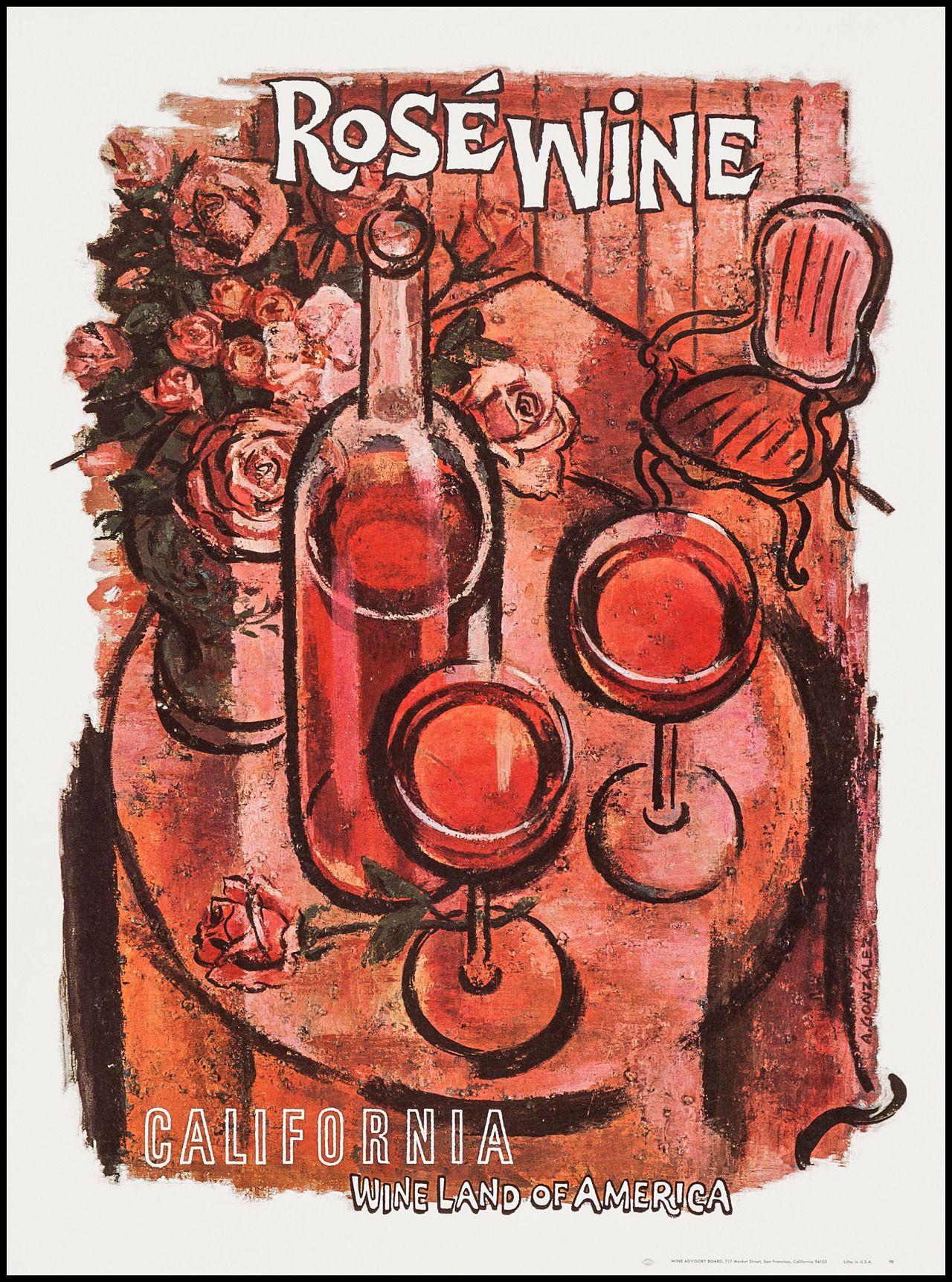 Vntgtravel Wine Poster California Wine Wine Art