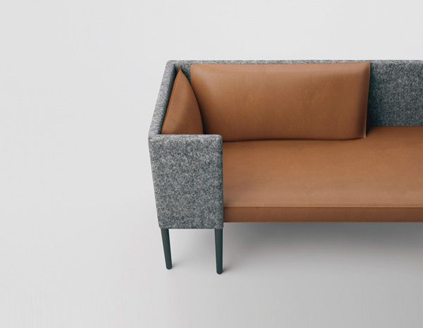 Modern design -- wool and leather upholstery Great upholstery