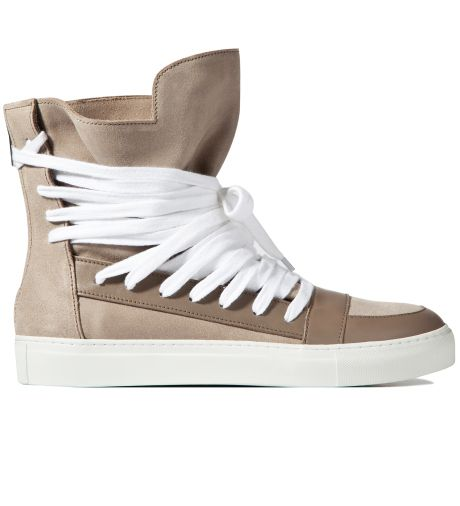 KRISVANASSCHE  Grey Multi Laces Sneakers  $574 USD