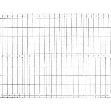 Panneau Grillage Naterial Gris Anthracite H 1 73 X L 2 48m Maille H 200xl 55mm Panneau Grillage Panneau Grillage Rigide
