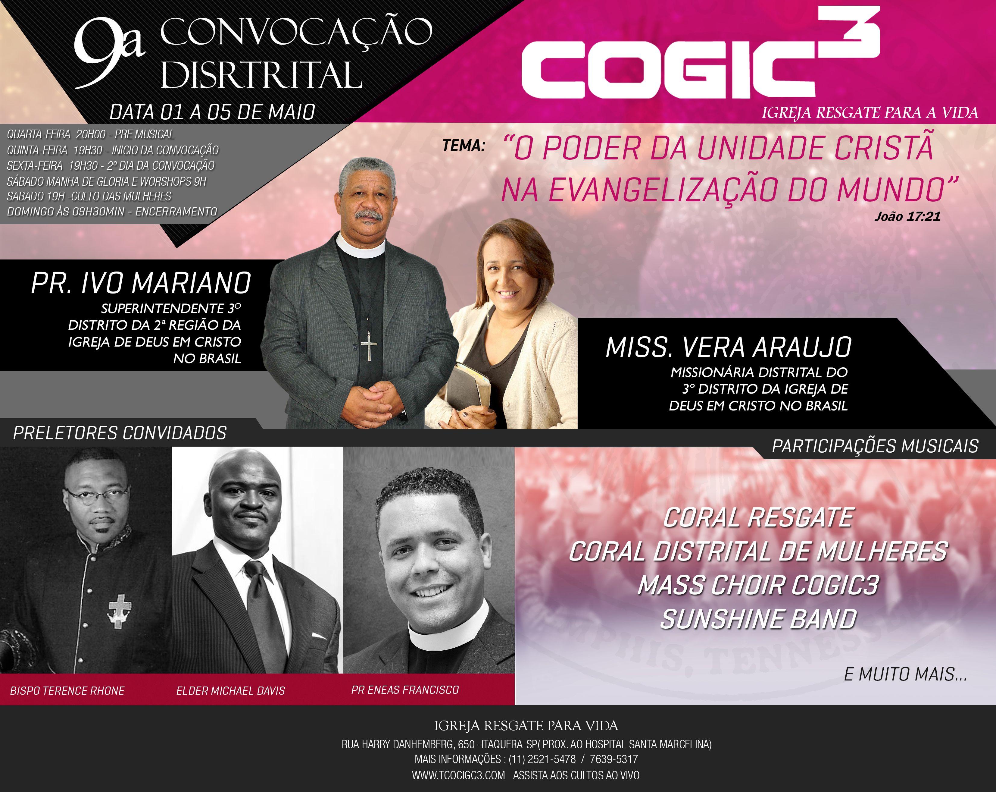Covocação da Igreja Resgate para Vida do 3º Distrito -  no Brasil