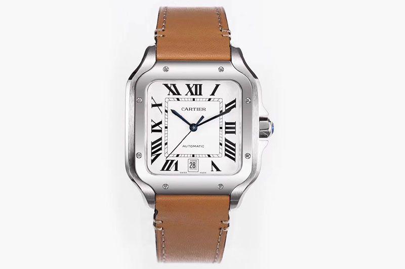 Replica Santos de Cartier Large 2018 KOR 1:1 Best Edition White Dial
