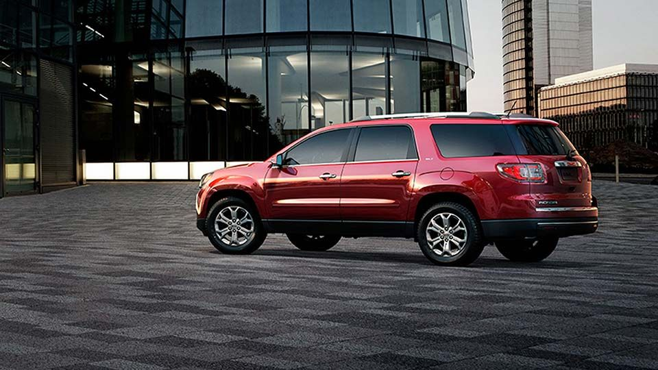 2015 Gmc Acadia Crossover Vehicle In Crystal Red Tint Coat Color