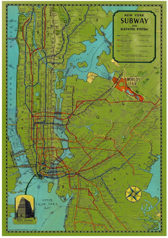 Old Ny Subway Map.Vintage New York City Subway Map Posters Pictures Images
