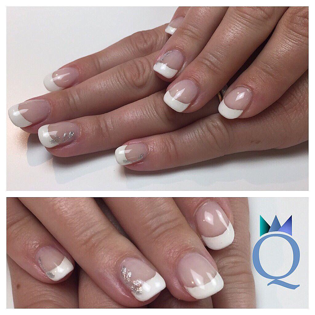 shortnails #gelnails #nails #frenchnails #silver #nailart ...