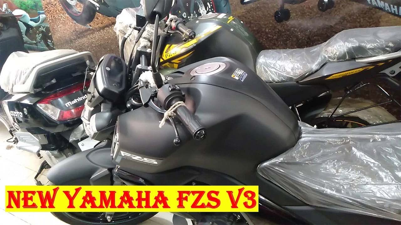 New Yamaha Fzs V3 Price 2019 Matt Black Color Specification