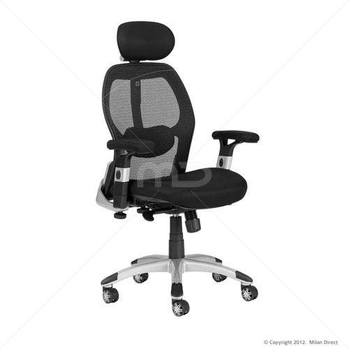 Deluxe Mesh Ergonomic Office Chair With Headrest Buy Ergonomic