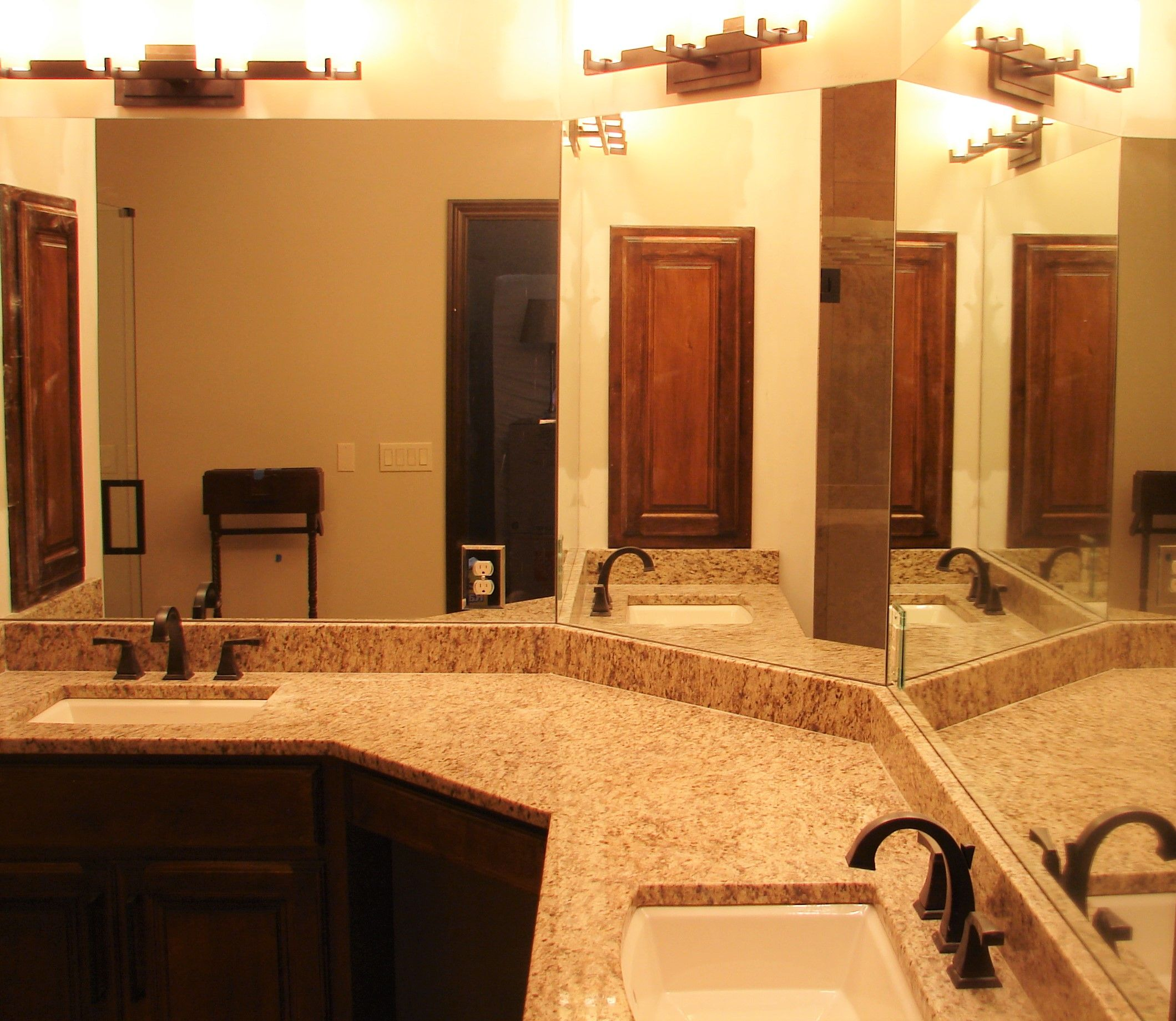 Bathroom Mirrors Omaha three piece mirror, installedelite glass services, inc
