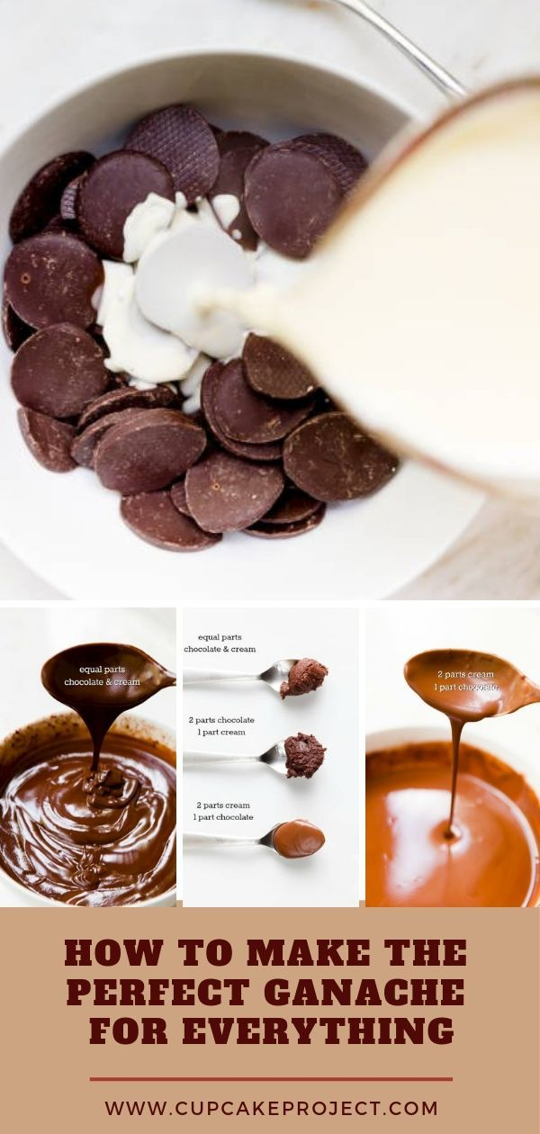 Chocolate ganache is very versatile. By combining just two ingredients, chocolate and heavy whipping cream, you can create cake filling, poured glaze, a spread or piped frosting, a decorative drizzle, or the base for truffles! This recipe is so easy!