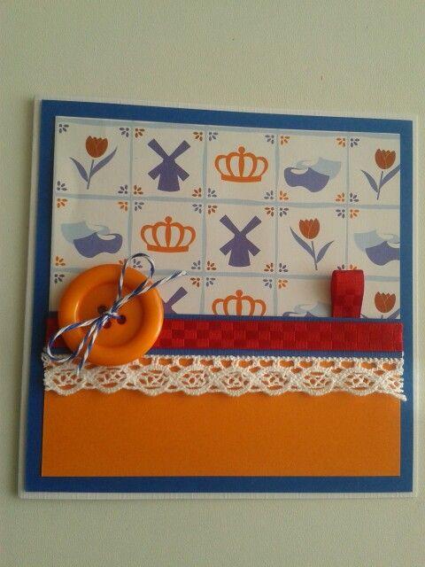 Hollandse kaart met lint.kant.knoop....