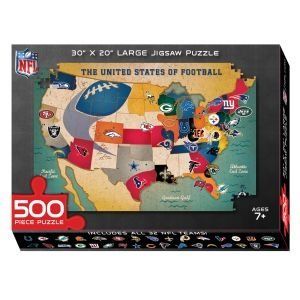 Amazoncom National Football Nfl Usa Map Puzzle Sports