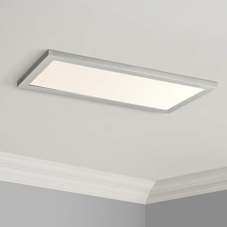 Maxim Sky Panel 23 1 2 Wide Silver Led Ceiling Light 53v52
