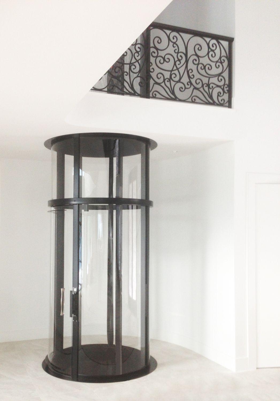 Visilift Round Home Elevator Glass elevator, House elevation