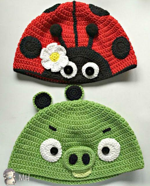 Gorro mariquita a crochet | Tejidos | Pinterest | Mariquita, Gorros ...