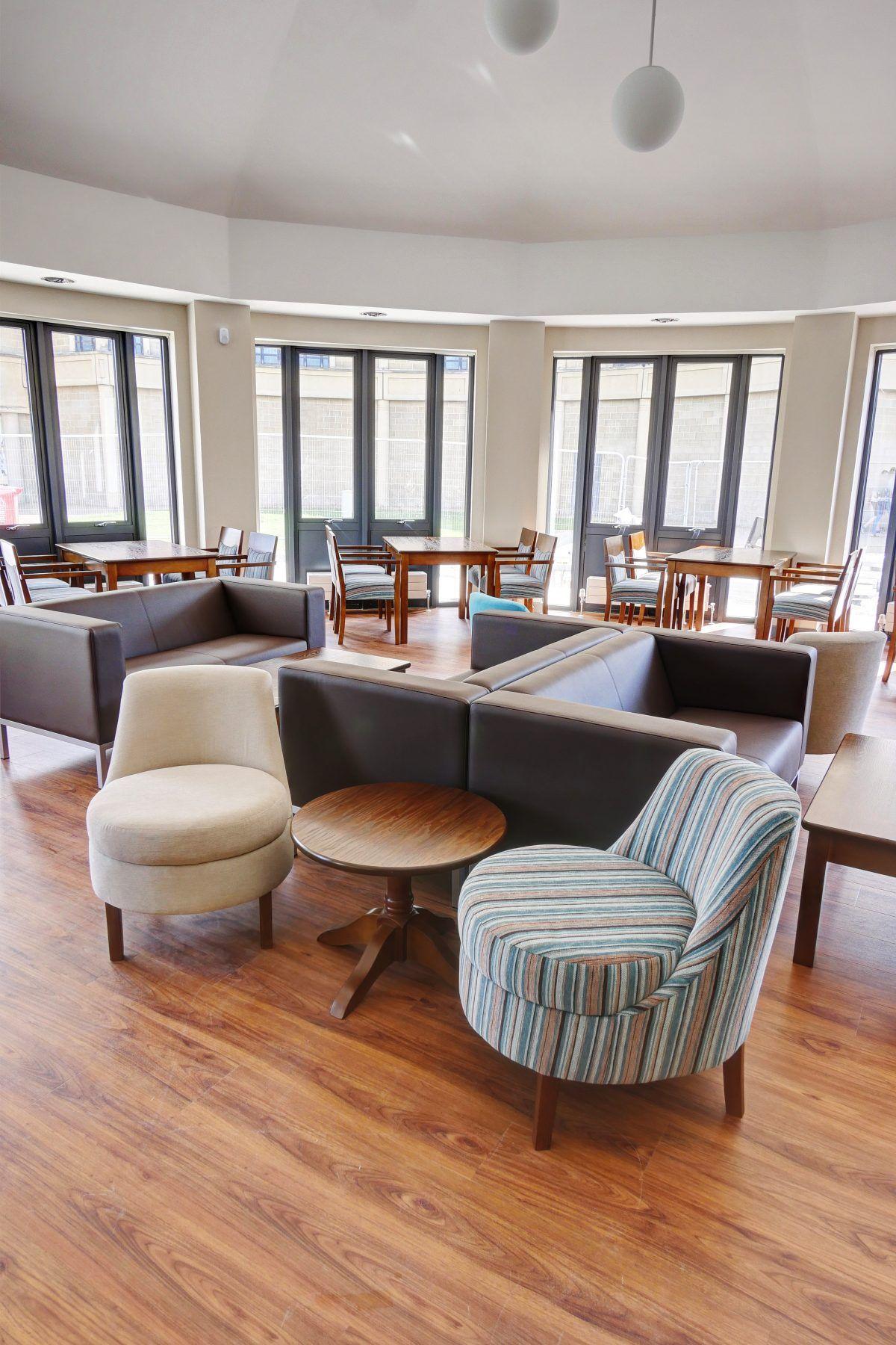 Weston College 2017 Furniture, Cafe furniture, White